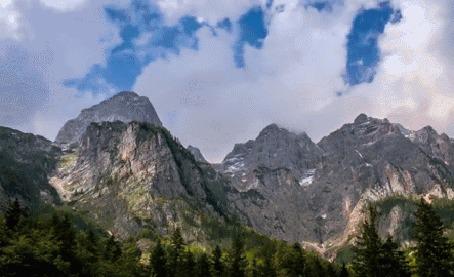 Анимация Облака над горами, Словения