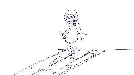 Анимация Прыгающая девочка, by enzouke