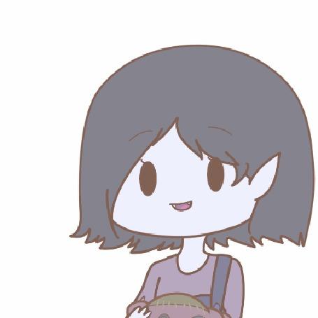 Анимация Marceline / Марселин из мультсериала Adventure Time / Время приключений, by natto-ngooyen