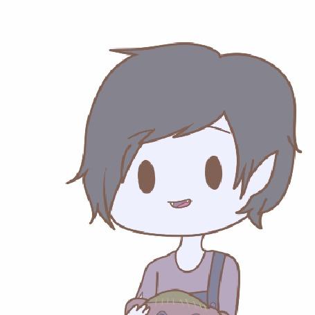 Анимация Маршалл Ли / Marshall Lee из мультсериала Время приключений / Adventure time, by natto-ngooyen