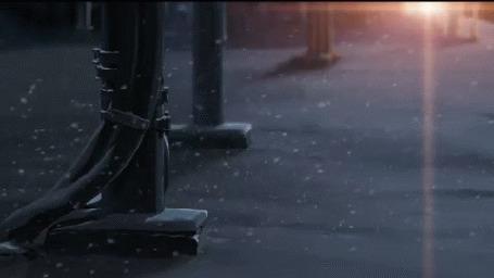 Анимация Медленно падающий снег, аниме 5 сантиметров в секунду
