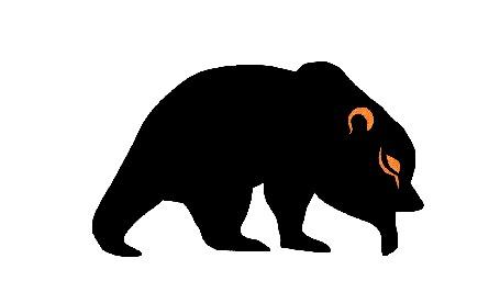 Анимация Идущий медведь на белом фоне
