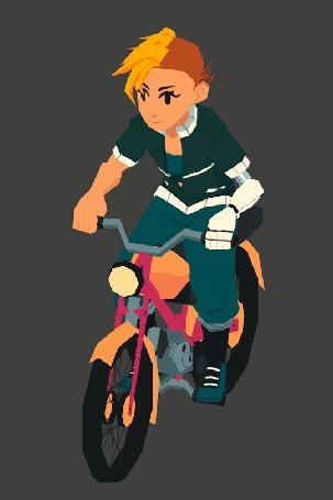 Анимация Парень едет на велосипеде