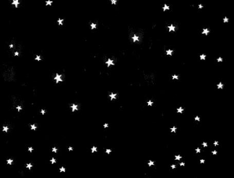 Анимация В небе сверкают яркие звезды