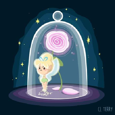 Анимация Диснеевская принцесса у розы, by CL TERRY