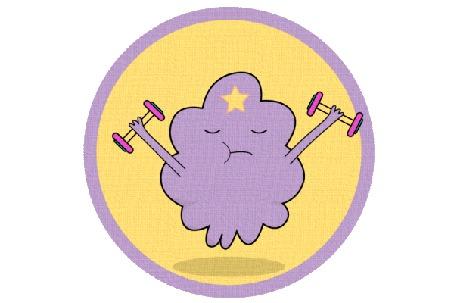Анимация Принцесса Пупырка занимается с гантелями, мультсериал Adventure Time / Время Приключений