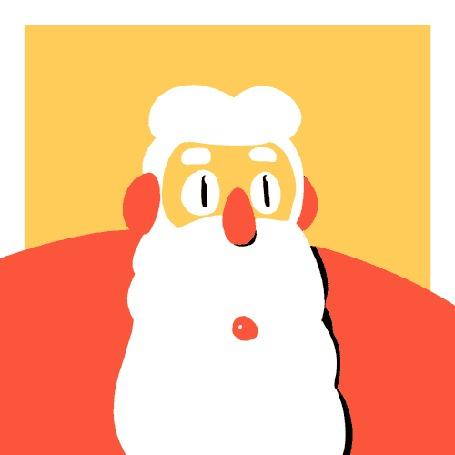 Анимация Мужчина снимает бороду и появляется лицо, изнывающее от жары