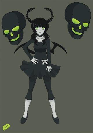 Анимация Мастер Смерти / Dead Master из аниме Стрелок с Черной скалы / Black Rock Shooter, by QUICKMASTER