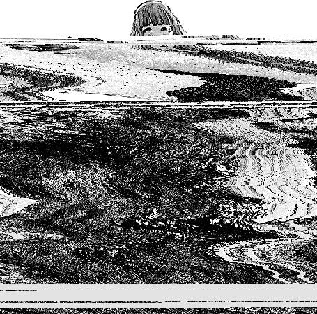 Анимация Айко Танака / Aiko Tanaka из манги Спокойной ночи, Пунпун / Oyasumi Punpun стоит на тропинке у моря, с помехами