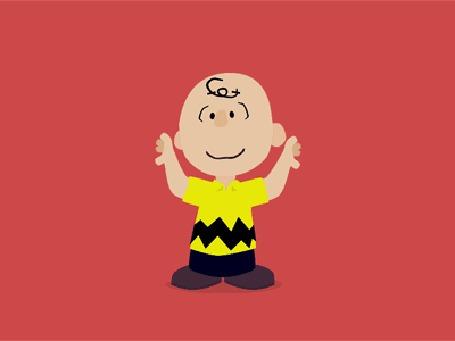 Анимация Прикольный мальчуган забавно танцует