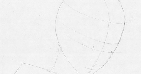 Анимация Процесс рисования девушки с розами на голове
