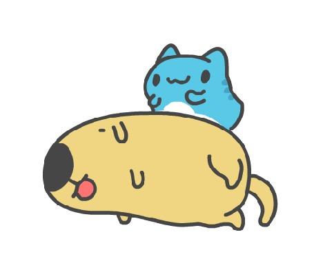 Анимация Бракованный котик / BugCat-Capoo / Жукокот будит своего друга пса из манги Бракованный котик / BugCat-Capoo / Mao Mao Chong Kabo