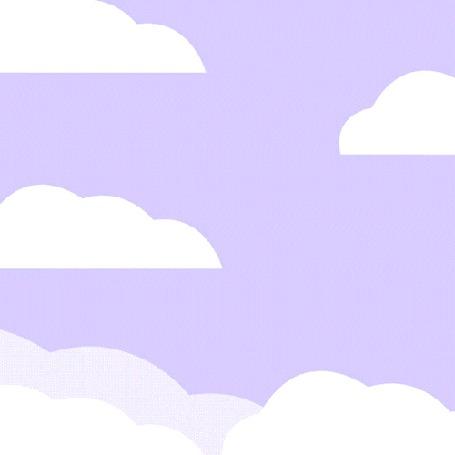Анимация Панда Кролик несется по небу на единороге на фоне радуги