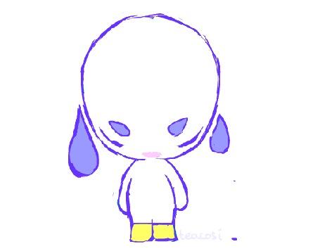 Анимация Маленький чудик с каплями, by teacosies