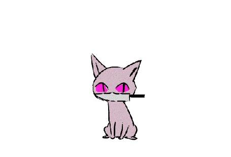 Анимация Котенок, кидающий ножик вверх, by Sout