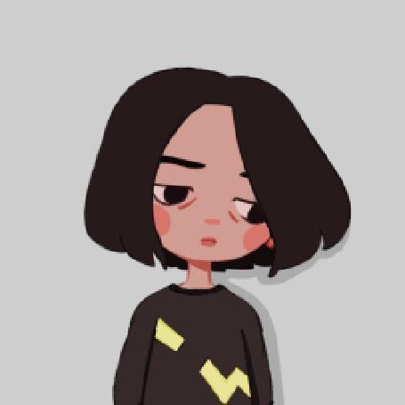 Анимация Девушка с развевающимися на ветру волосами, by boooi