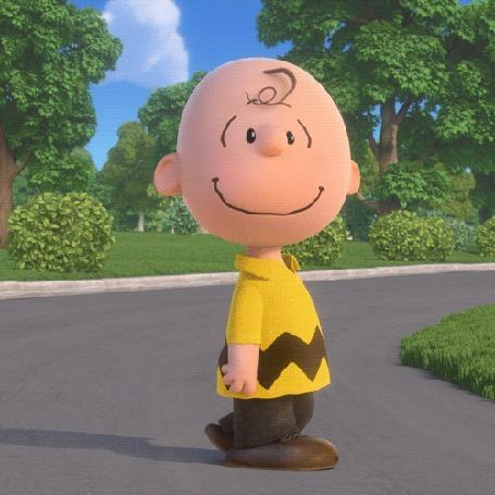 Анимация Собака подбегает к мальчику и обнимает его, мультфильм The Peanuts Movie / Снупи и мелочь пузатая в кино