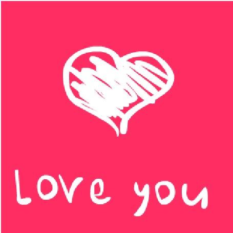 Анимация Нарисованное сердце на розовом фоне (Love You / Люблю тебя), by DmitryKryndach