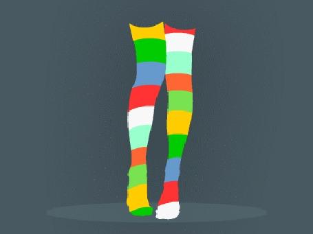 Анимация Разноцветные ножки, by DmitryKryndach