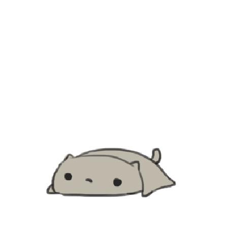 Анимация Кошка ложится на котенка, by Lanmana