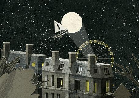 Анимация В небо поднимается парусник, by Nancy Liang