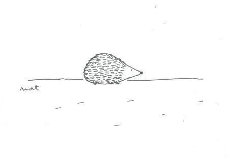 Анимация Ежик куда-то очень торопится