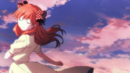 Анимация Чие Сакура / Chiyo Sakura из аниме Ежемесячное седзе Нозаки-куна / Gekkan Shoujo Nozaki-kun