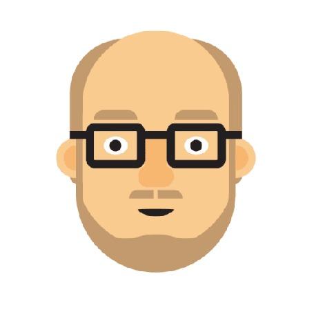 Анимация Портрет мужчины в очках