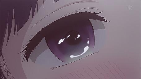 Анимация Глаз Ханаби Ясураока / Hanabi Yasuraoka из аниме Тайные желания отвергнутых / Kuzu no Honkai с выступающими слезами