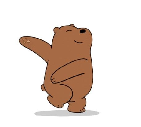 Анимация Счастливый Гриз / Grizz из мультфильма We Bare Bears / Вся правда о медведях