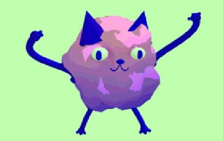 Анимация Смешной котик весело танцует