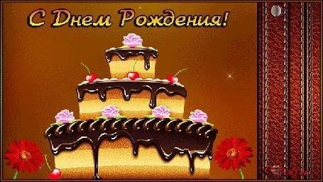 Анимация Поздравление мужчины с днем рождения (Счастья, здоровья, любви)