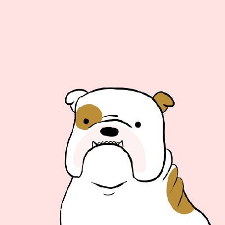 Анимация Бульдог сладко зевает