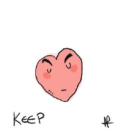Анимация Сердце разрывается от счастья (Кeep happy heart / Держите счастливое сердце)
