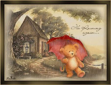 Анимация На прогулке под дождем, by Tim2ati