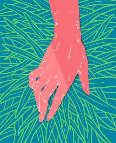 Анимация Змея проползает по руке