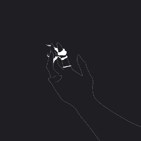 Анимация На пальце руки белый огонь