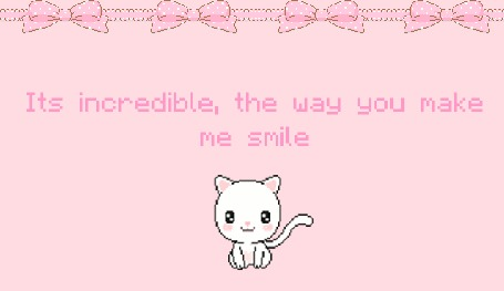 Анимация Кот говорит: Это невероятно, как ты заставляешь меня улыбаться / its incredible, the way you make me smile