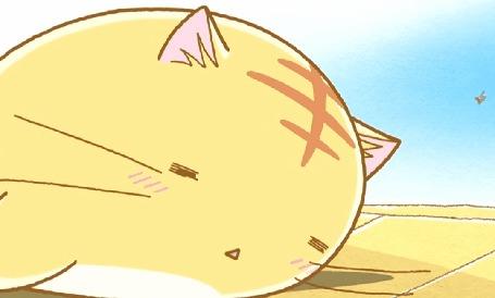 Анимация Возле спящего Пуфика летает комарик, кадр из аниме Хроники Пуфика