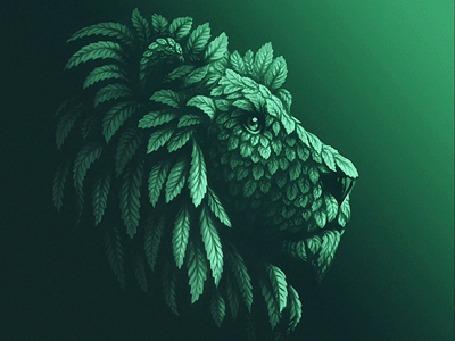 Анимация Морда фантастического льва, by Sergey Kovalenko