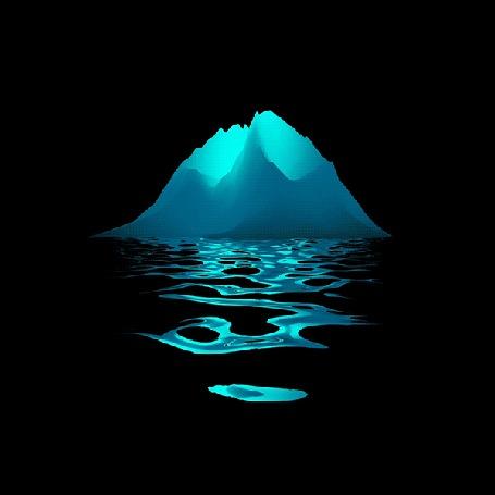 Анимация Вода переливается голубым цветом