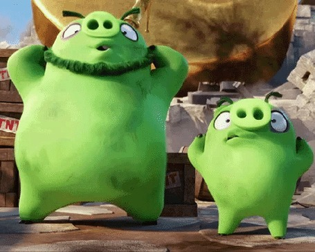 Анимация Танцующие свиньи из мультфильма Angry birds / Злые птицы