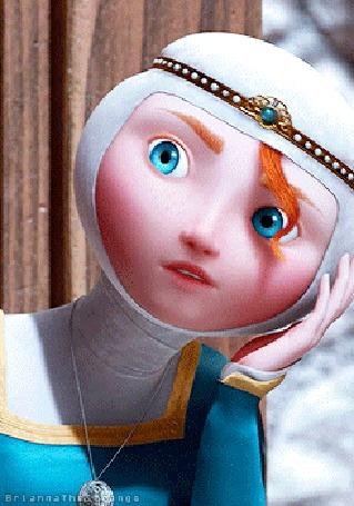 Анимация Принцесса Мерида / Princess Merida, персонаж мультфильма Храбрая Сердцем / Brave