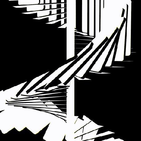 Анимация Бесконечная лестница, ведущая вверх
