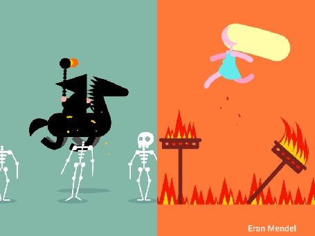Анимация 6 сезон «Игры Престолов» в лаконичных gif-ках от Eran Mendel