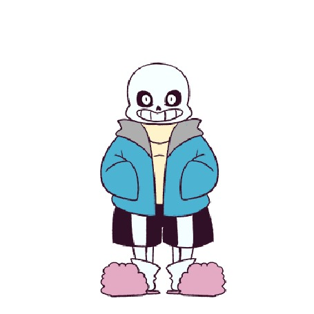 Анимация Санс / Sans из игры Undertale, by Fruitloop-chan