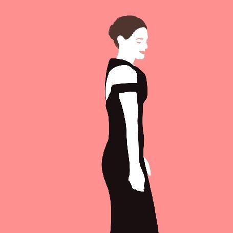 Анимация Девушка в коктельном платье танцует, by CooliPhone6Case