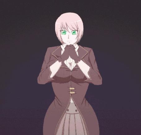 Анимация Розоволосая девушка призывающая магию, by kumaokaa-san