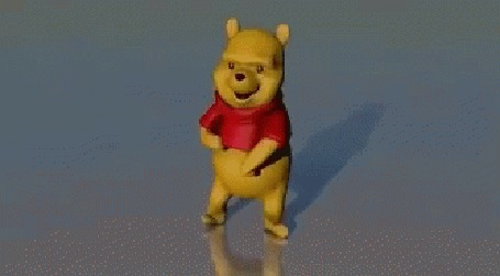 Анимация Трехмерный Винни-Пух забавно пляшет под Gangnam Style