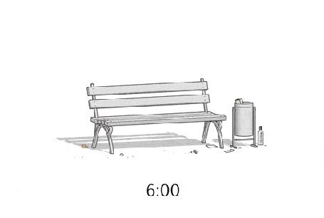 Анимация Один день из жизни парковой скамейки, by М. Дегтярев